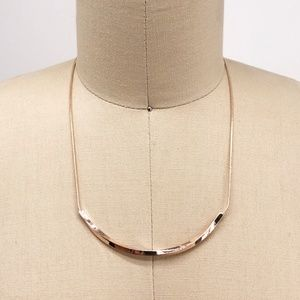 CHARTER CLUB Rose Gold Twisted U-Frame Necklace